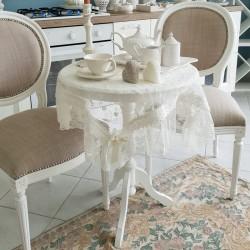 Tavolino Circolare Bianco